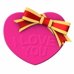 バレンタインデー ハート形チョコレート ピンク色の写真素材 [FYI00290055]