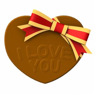 バレンタインデー ハート形チョコレート LOVEの写真素材 [FYI00290058]