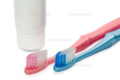歯ブラシと歯磨き粉の写真素材 [FYI00290970]