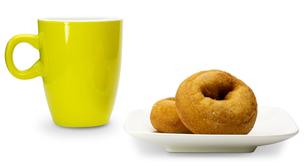 マグカップとドーナッツの写真素材 [FYI00290999]