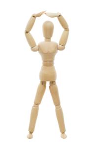 OKポーズをとるデッサン人形の写真素材 [FYI00291335]