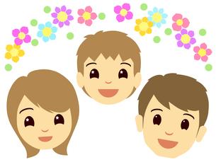 家族の顔の写真素材 [FYI00297653]