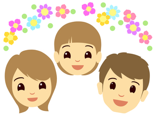 家族の顔の写真素材 [FYI00297655]