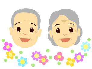 老夫婦の顔の写真素材 [FYI00297665]