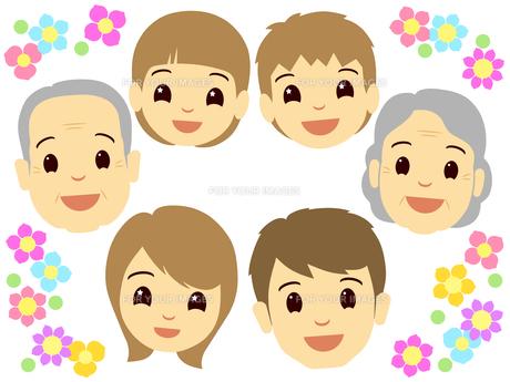 家族の顔の写真素材 [FYI00297691]