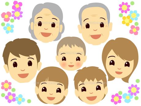 家族の顔の写真素材 [FYI00297692]