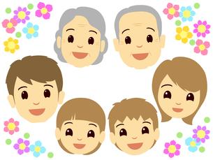 家族の顔の写真素材 [FYI00297694]