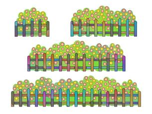 花と木製フェンスの写真素材 [FYI00297702]