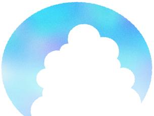 入道雲のフレームの写真素材 [FYI00297707]
