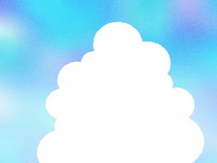 入道雲のフレームの写真素材 [FYI00297710]