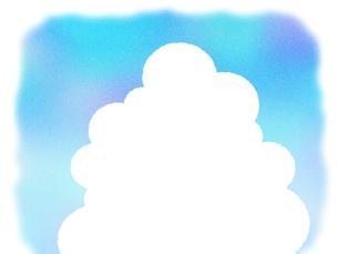 入道雲のフレームの写真素材 [FYI00297736]