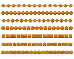 木の飾り罫線の写真素材 [FYI00297964]