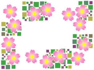 桜のフレームの写真素材 [FYI00298312]