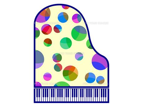 水玉模様で飾ったピアノの写真素材 [FYI00298363]