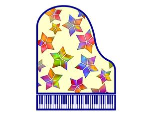 星柄で飾ったピアノの写真素材 [FYI00298368]