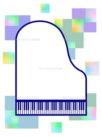 ピアノ型のフレームの写真素材 [FYI00298370]