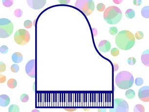 ピアノ型のフレームの写真素材 [FYI00298373]