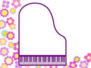 ピアノ型のフレームの写真素材 [FYI00298375]