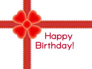 赤いリボンの誕生日プレゼントの写真素材 [FYI00298377]