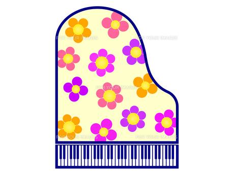 花柄で飾ったピアノの写真素材 [FYI00298378]