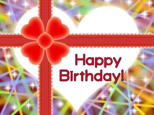 赤いリボンの誕生日プレゼントの写真素材 [FYI00298381]