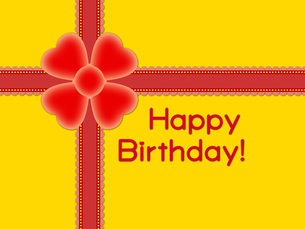 赤いリボンの誕生日プレゼントの写真素材 [FYI00298385]