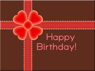 赤いリボンの誕生日プレゼントの写真素材 [FYI00298388]