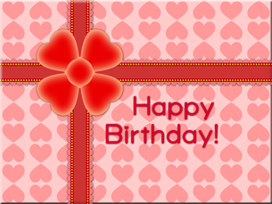 赤いリボンの誕生日プレゼントの写真素材 [FYI00298390]