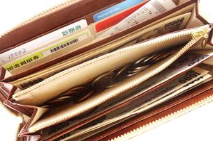 主婦の財布の中身の写真素材 [FYI00300168]