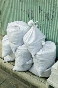 防災用の砂袋の写真素材 [FYI00301970]
