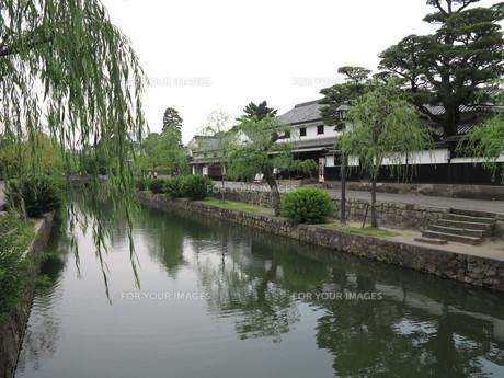 倉敷美観地区の水路の素材 [FYI00302130]