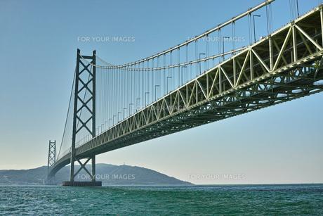 世界一の吊り橋 明石海峡大橋の写真素材 [FYI00302147]