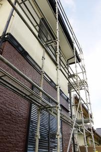 住宅リフォームの足場の写真素材 [FYI00302178]