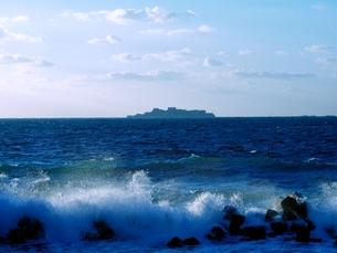 軍艦島の写真素材 [FYI00302639]