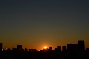 東京の夜明けの写真素材 [FYI00302899]