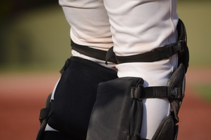 野球選手の膝の写真素材 [FYI00302917]