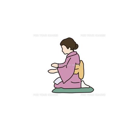 座る女性の写真素材 [FYI00303282]