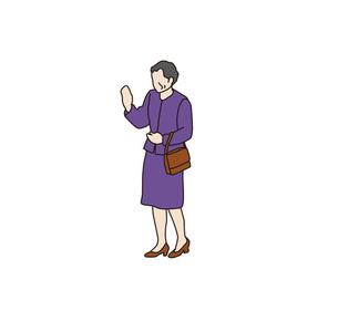 おばあさんの素材 [FYI00303292]