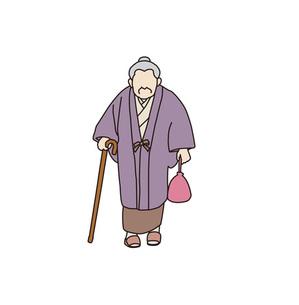 おばあさんの素材 [FYI00303293]