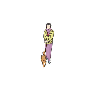 散歩する夫人の素材 [FYI00303300]