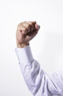 ガッツポーズをする男性の手の写真素材 [FYI00304014]