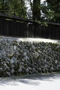 石造りの塀の写真素材 [FYI00304041]