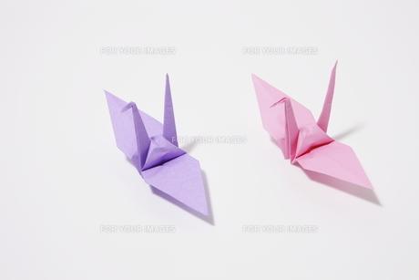 パステルカラーの折り鶴の素材 [FYI00304113]