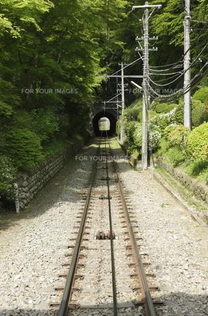 トンネルのある風景の写真素材 [FYI00304358]