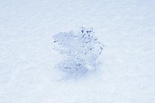積雪の上の氷の素材 [FYI00304539]