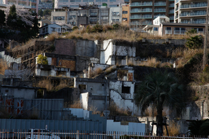 崖の廃棄の写真素材 [FYI00304601]