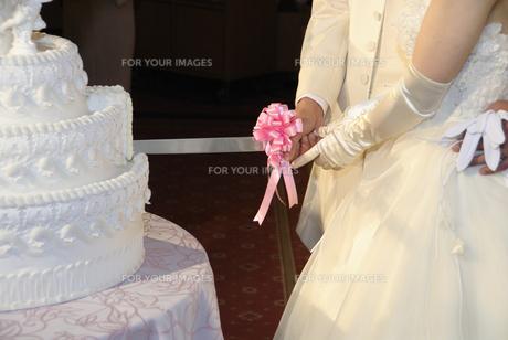 ケーキ入刀の写真素材 [FYI00304695]