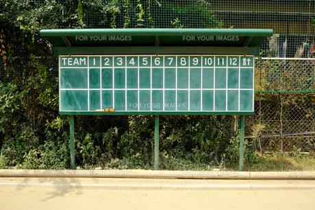 野球得点板(正面)の素材 [FYI00304870]