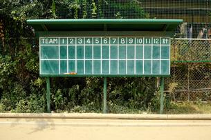野球得点板(正面)の写真素材 [FYI00304870]