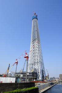 建設中の東京スカイツリー(358m)の写真素材 [FYI00304872]